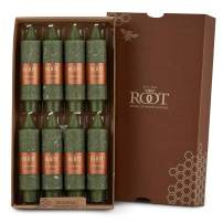 Root Candles Unscented Timberline Collenette 5-Inch Dinner Candles, 8-Count, Dark Olive