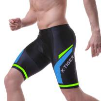 X-TIGER Men's Cycling Shorts with 5D Gel Padded,Long-Distance Road Biking Bicycle Half Pants