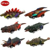 Toys for 2-10 Year Old Boys Girls-Toy Cars Kids Boys Toys Age 2 3 4 5 + Dinosaur Toys for 3 year old boys toddler boy toys 6 Pack pull back cars Dinosaurs Party Favor Gifts for Boys girls 2-10 Age
