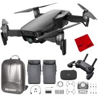 DJI Mavic Air Quadcopter with Remote Controller - Onyx Black Max Flight Bundle with Spare Battery, and Custom Mavic Air Hard Shell Back Pack