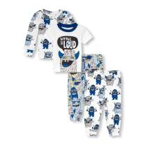 The Children's Place Baby Boys 4 piece Novelty Printed Variety Pajama Set