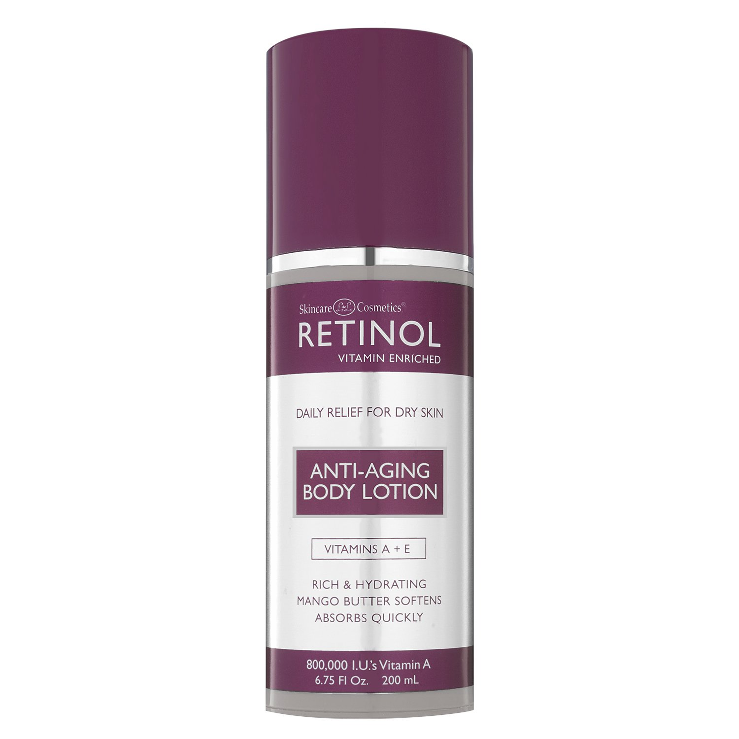 Retinol Anti-Aging Body Lotion – Corrective & Preventative Relief For Dry Skin With The Original Retinol – Luxurious Treatment Smooths Dry, Flaky Skin w/ Botanical Moisturizers & Vitamin A