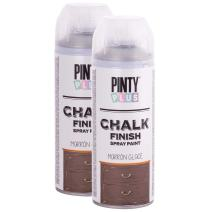 Chalk Finish Spray Paint, Water Based, Eco-Friendly, Superior One Coat Coverage, Dries Fast, PintyPlus, 13.5 oz, 2 Pk Chestnut Brown