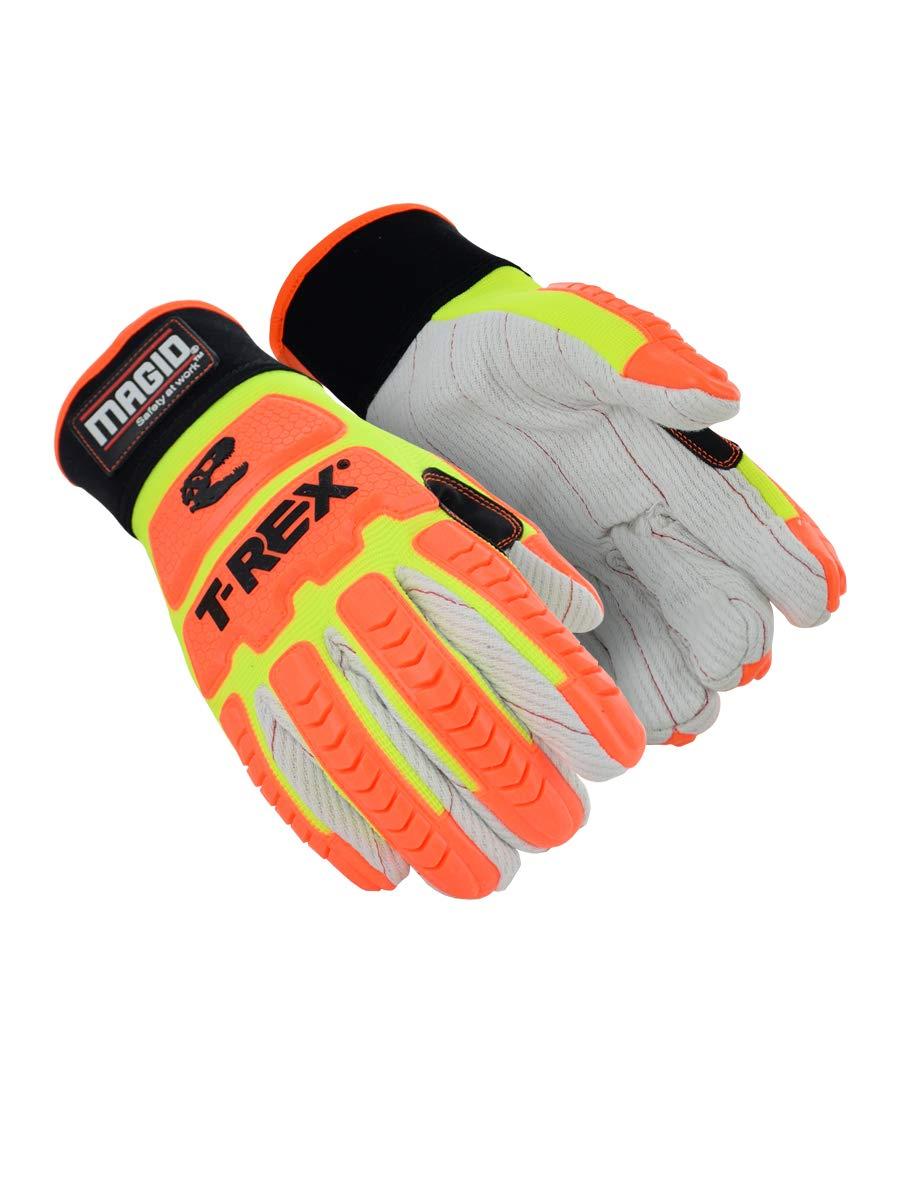 MAGID T-REX Primal Series TRX510 Cotton Blend Corded Palm Impact Glove | Cut Level A2, Size 12/XXXL