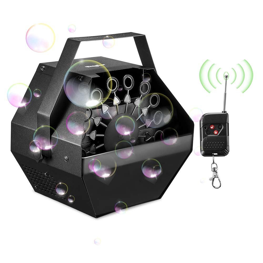 Theefun Upgraded Professional Parties Bubble Machine, Wireless Remote Control Automatic Bubbles Maker with High Output for Outdoor/Indoor Use