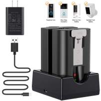 NANW Battery Charger Station Compatible with Ring Video Doorbell 2, Spotlight Cam Battery, Peephole Cam & Stick Up Cam Battery (Batteries NOT Included), Portable Dual Port Charging