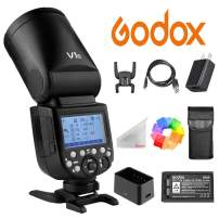 Godox V1-C Round Ring Flash Adjustable Light Head 2.4G TTL Wireless 76Ws 1/8000 HSS Round Head Flash Speedlight with 2600mAh Lithium Battery for Canon