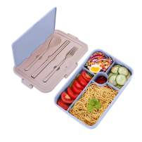 Bento Box for Kids Lunch Containers with 5 Compartments for Adults BPA-Free Lunch Box Food Containers (Spoon&Fork&Chopsticks included, Blue)