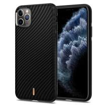 CielbyCYRILL [Silicone TPU] Compatible with iPhone 11 Pro Case - Soft Ultra Thin for iPhone 11 Pro Case Light Liquid Mobile Phone Case (5.8 Inches) Black Wave Shell Pattern 077CS27273