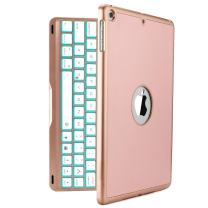 New iPad 2018 Keyboard Case, iEGrow New F8S 7 Colors LED Backlit iPad 6th Generation Keyboard with Protective Case Cover for New iPad 9.7/ iPad 5th Generation/iPad Air(Rose Gold)