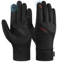RUNACC Unisex Running Gloves Touch Screen Waterproof Anti-slip Gloves