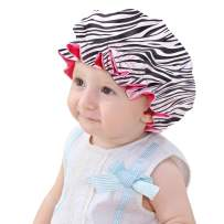 Sent Hair Kids Satin Bonnet Sleeping Cap Adjustable Sleep Bonnet with Drawstring Reversible Night Caps for Kids Child Baby Toddler Double Layer Zebra Pattern/Rose Red