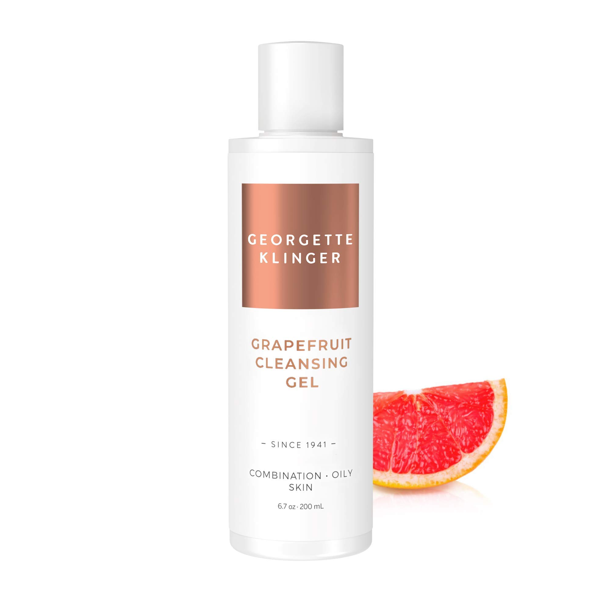 Grapefruit Facial Cleansing Gel by Georgette Klinger – Foaming Cleanser Helps Unclog Pores, Rids Excess Oil & Dirt Keeping Skin Clean, Clear and Radiant