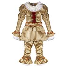 Julymoda Scary Movie It Chapter Two Pennywise Clown Cosplay Costume for Kids