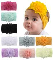 Baby Head Wrap Chiffon Flowers Toptim Newborn Infant Soft Nylon Headbands