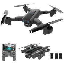 GoolRC CSJ S167 GPS Drone, 5G WiFi FPV RC Drone with Camera 4K HD Gesture Photos Video, Auto Return Home, Altitude Hold, Follow Me RC Quadcopter for Adults with 3 Batteries