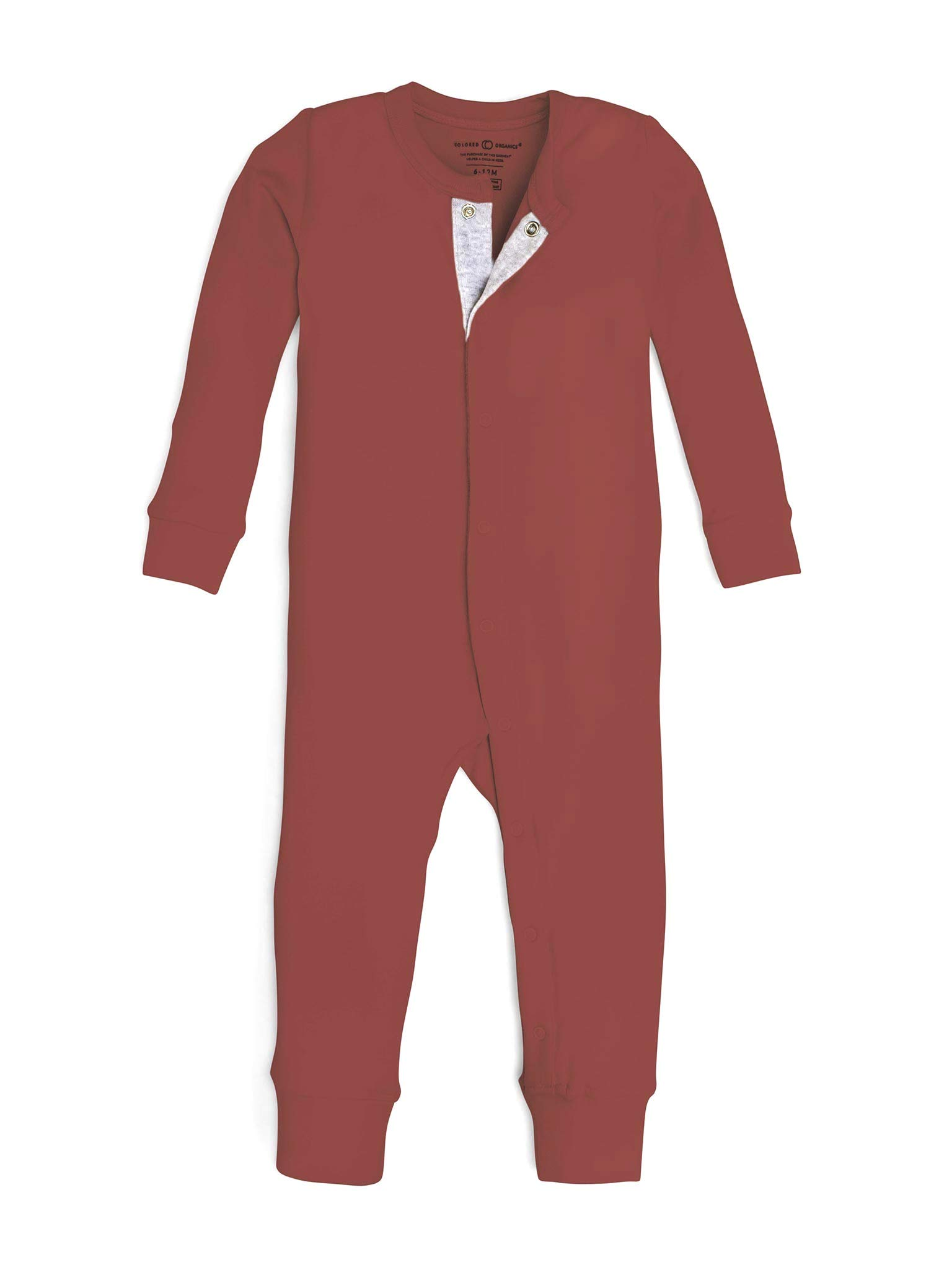 Colored Organics Unisex Baby Organic Cotton Emerson Sleeper - Long Sleeve Infant Coverall