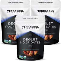 Terrasoul Superfoods Organic Deglet Dates, 6 Lbs (3 Pack) - Pitted   Fresh   Natural Sweetener