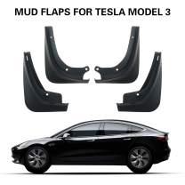 LFOTPP Mud Flaps for Tesla Model 3 Model Y Splash Guards Mudflap Fender Mudguards Pack of 4 Black