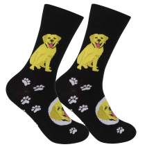 FUNATIC Funny Dog Themed Novelty Crew Socks All Breeds | Best Quality Unisex for Men Women | One Size Fits Most