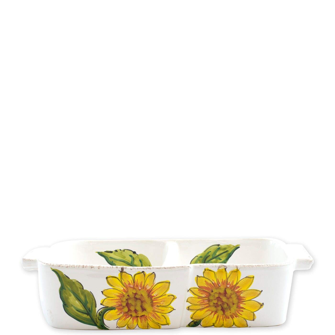 Vietri Lastra Sunflower Two-Part Server