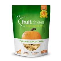 Fruitables Baked Dog Treats   Pumpkin Treats for Dogs   Healthy Low Calorie Treats   Free of Wheat, Corn and Soy