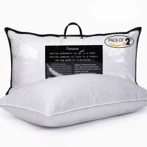 "BESC Down Pillows for Sleeping Queen Size - Pack of 2 Standard Hotel Collection Soft Goose Feather Pillow - Bedding Pillow Insert 18""X26"""