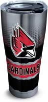 Tervis 1298639 Ball State Cardinals Knockout Insulated Tumbler with Hammer Lid, 30 oz Stainless Steel, Silver
