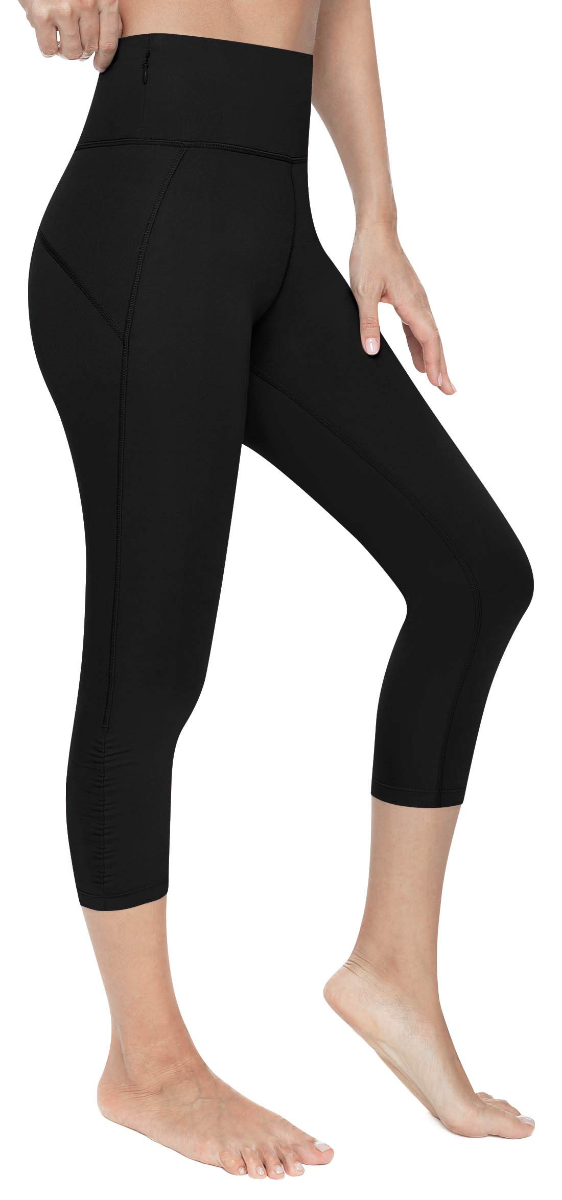 VUTRU Women's Yoga Capri Pants Sport Tights Workout Running Yoga Leggings with Pocket
