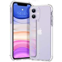 MATEPROX iPhone 11 Case Clear Heavy Duty Protective Crystal Back Cover with Shockproof Bumper Case for iPhone 11 2019 6.1(Clear White)