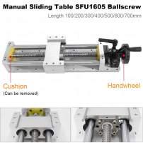 Updated CNC Manual Sliding Table 300mm Linear Rail Slide Cross SFU1605 Ballscrew Module C7 Linear Stage Actuator DIY CNC Router Parts