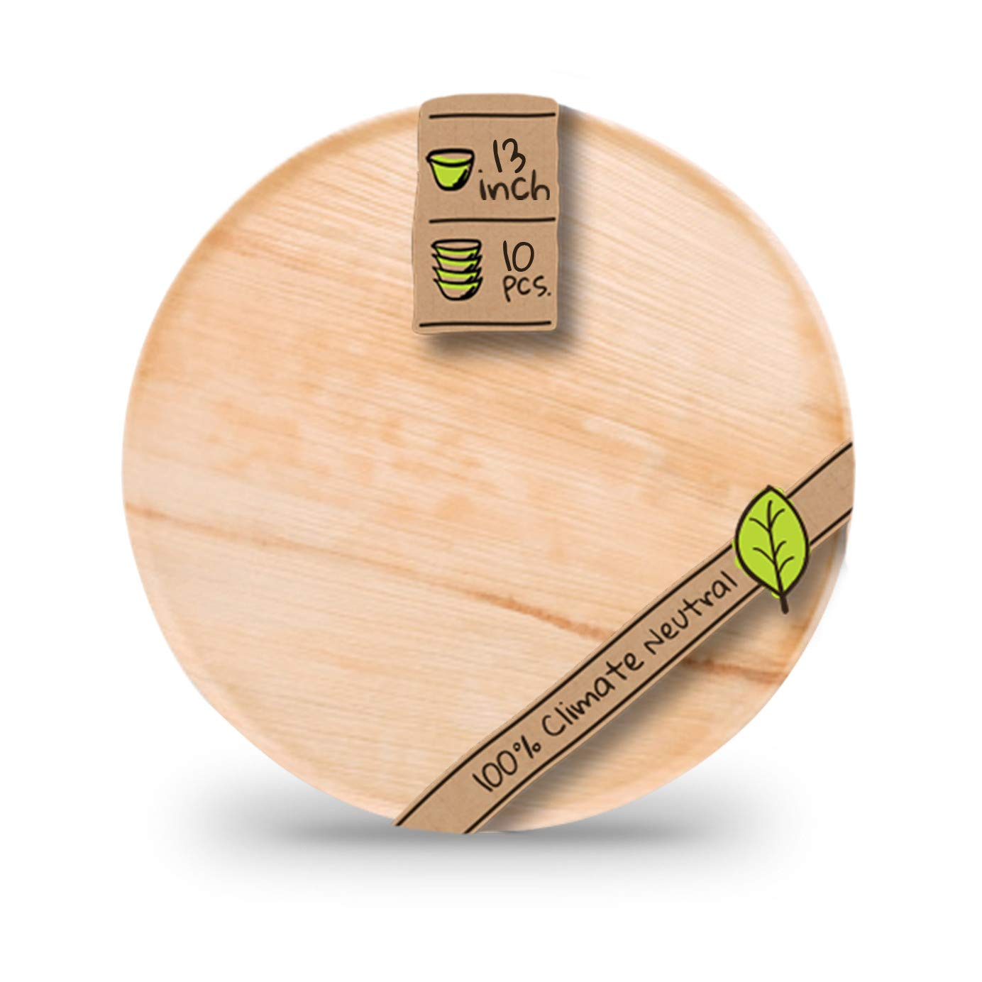 """Naturally Chic Palm Leaf Compostable Serving Trays 