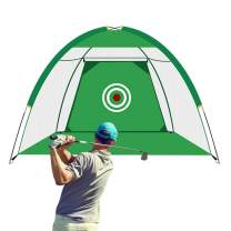 VARIPOWDER Golf Net, Golf Nets for Backyard Driving Golf Practice Hitting Net for Indoor Outdoor Golfing Home Swing Golfers Training Aids with Target Sheet and Storage Bag