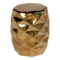Ethan Allen Dimond Faceted Ceramic Gold Accent Table