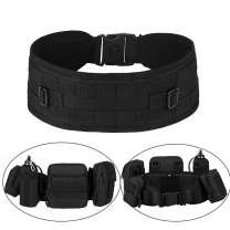 Huntvp MOLLE Tactical Belts Patrol MOLLE Belt with Mesh Lining for Shooting Airsoft Wargame Paintball Hunting