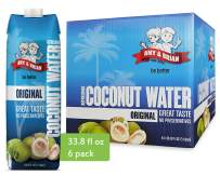 Amy & Brian Non-GMO Coconut Water, 1 Liter (Pack of 6) | Best Tasting Coconut Water | Gluten Free & No Added Sugar | Refreshing & Hydrating Real Coconut Water
