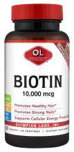 Olympian Labs Biotin Supplement Maximum Strength 10,000 mcg, 60 Count