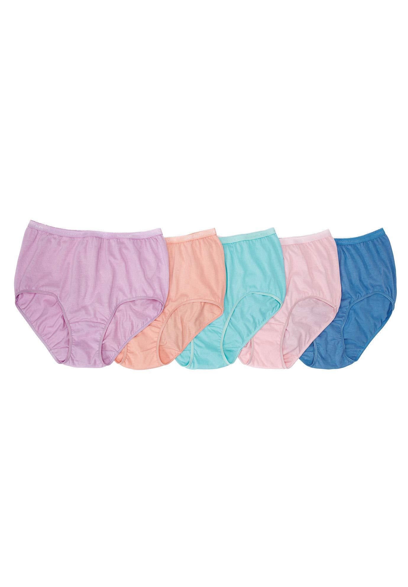 Comfort Choice Women's Plus Size 10-Pack Nylon Full-Cut Brief