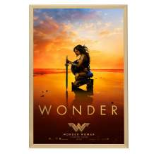 SnapeZo Movie Poster Frame 27x40, Gold, 1.25 Inch Aluminum Profile, Front-Loading Snap Frame, Wall Mounting, Professional Series for One Sheet Movie Posters