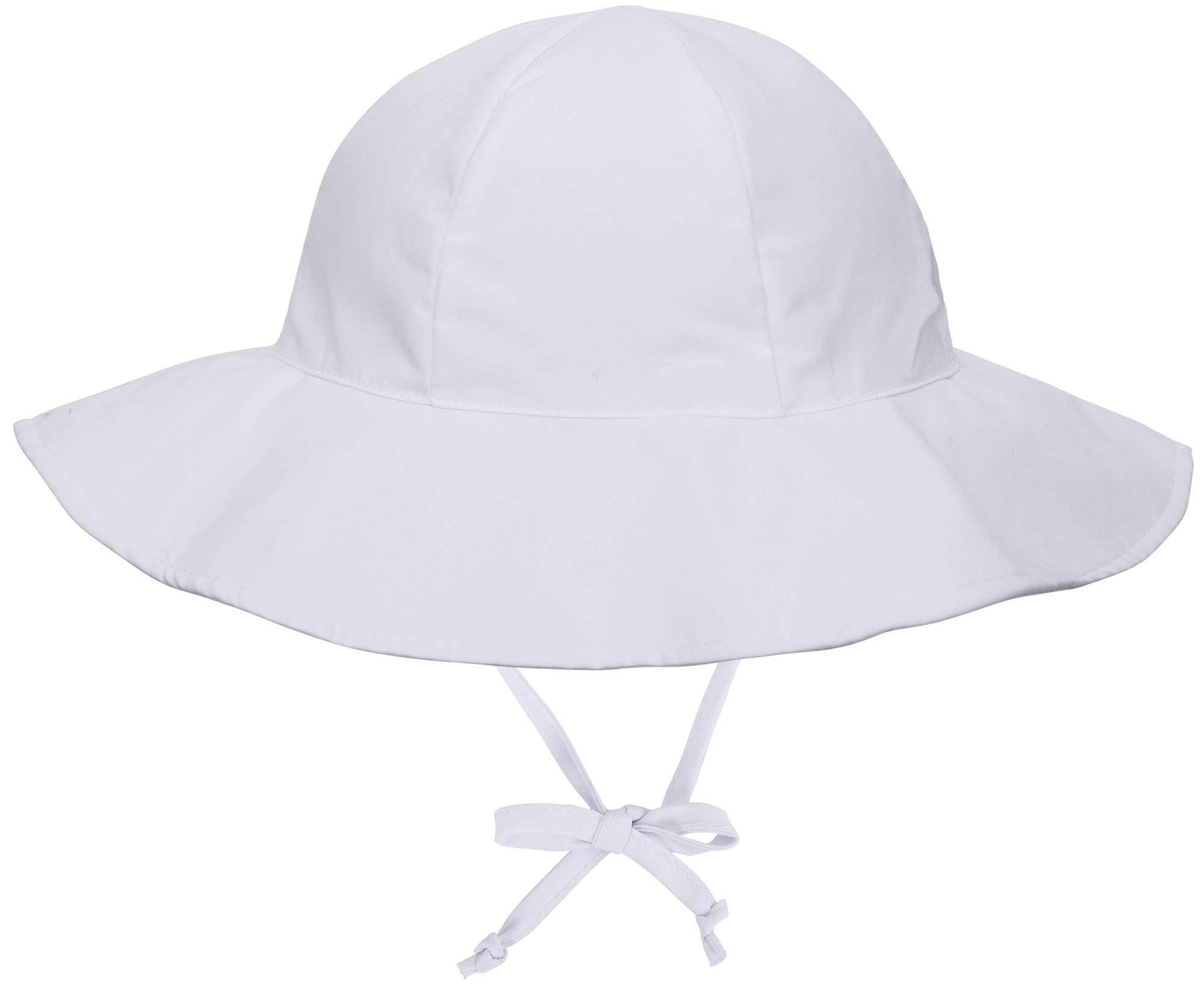 SimpliKids UPF 50+ UV Ray Sun Protection Wide Brim Baby Sun Hat,White,12-24 Months