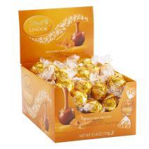 Lindt LINDOR Caramel Milk Chocolate Truffles Kosher, 60 Count Box