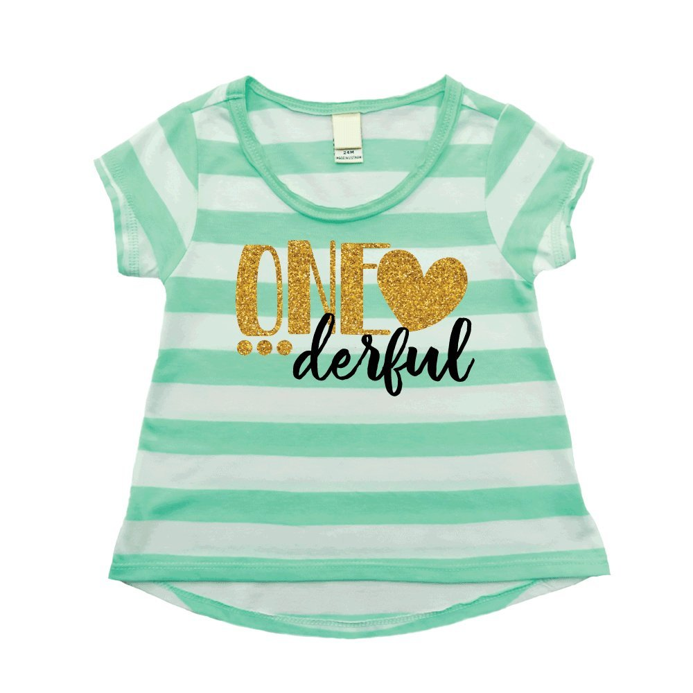 Girl First Birthday Shirt One-Derful Outfit