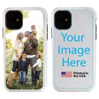 Custom iPhone 11 Cases by Guard Dog - Personalized - Make Your Own Protective Hybrid Phone Case (White, Black)
