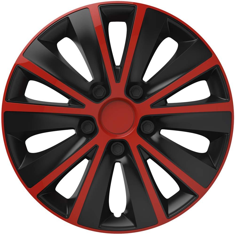 Versaco RAPIDERB15 Rapide RED Black 38cm/15 Wheel Trims, 4 Pack