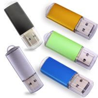 Ebamaz USB Flash Drives 2.0 Metal Key with LED Indicator Pack of 5 Colors (128MB,Not GB,Smaller Than 1GB,Blank)