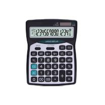 Calculator Professional Standard Large Desktop Calculators,Office/Business/Electronic calculators with 14-Digit Large Display, Solar and AA Battery Dual Power Black