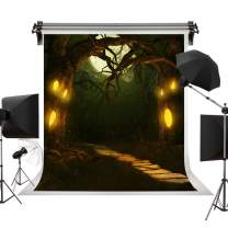 Kate 5x7ft/1.5m(W) x2.2m(H) Halloween Backdrop Horrible Forest Backdrops Spider Backgrounds Creepy Halloween Party Decoration