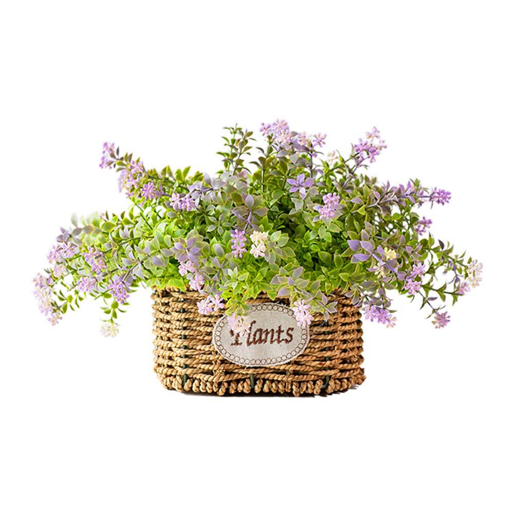 NEW RUICHENG Artificial Flower + Handmade, Flower Basket Home Decoration Silk Flowers Arrangement Artificial Flower Vase Mini Artificial Plants Real Artificial Small for Wedding Bouquet Art Decor