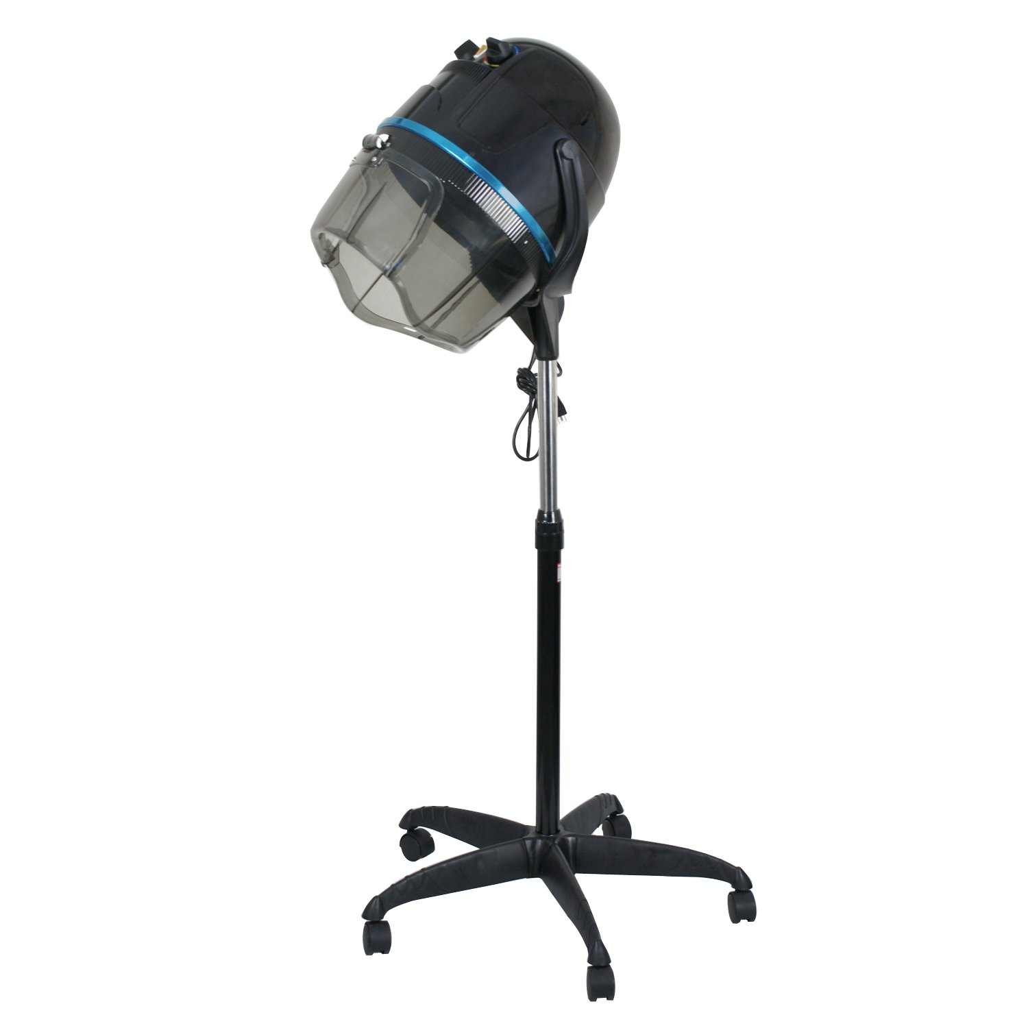 Professional 1300W Adjustable Hooded Floor Hair Bonnet Dryer Stand Up Rolling Base with Wheels Salon Equipment