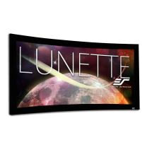 Elite Screens Lunette 2 Series, 96-inch Diagonal 2.35:1, Curved Home Theater Fixed Frame Projector Screen, CURVE235-96W
